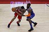 17th January 2019, The O2 Arena, London, England; NBA London Game, Washington Wizards versus New York Knicks; Bradley Beal of the Washington Wizards is guarded by Tim Hardaway Jr of the New York Knicks