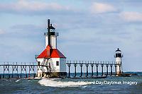 64795-02802 St. Joseph North Pier Lighthouses St. Joseph, MI