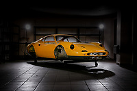 BNPS.co.uk (01202 558833)<br /> Pic: Historics/BNPS<br /> <br /> Ferrari Box...ster - the bare bodyshell.<br /> <br /> A classic Ferrari has emerged for sale for a whopping £165,000 despite the fact the vast majority of its parts are currently sat in boxes.<br /> <br /> The Dino 246GT was dismantled in the 1970s by its then owner as part of a restoration project, which never got off the ground.<br /> <br /> The parts were meticulously filed into around 60 cardboard boxes where they remain to this day filling several shelves.