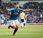 Fraser Aird celebrates his goal for Rangers