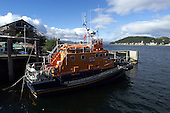 Kerrie MacGillivray from Mull was born on this Oban based Lifeboat. Note this is not the normal boat based there - it is away on refit...    picture by Donald MacLeod  13.09.01