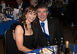 St Johnstone FC Scottish Cup Celebration Dinner at Perth Concert Hall...01.02.15<br /> Rachael Simms and Geoff Brown<br /> Picture by Graeme Hart.<br /> Copyright Perthshire Picture Agency<br /> Tel: 01738 623350  Mobile: 07990 594431