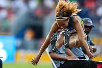 TORONTO, CANADÁ, 24.07.2015 - PAN-ATLETISMO - Brasileira Keila Costa durante salto em distancia no atletismo nos Jogos Panamericanos na cidade de Toronto no Canadá, nesta sexta-feira, 24 (Foto: Vanessa Carvalho/Brazil Photo Press)