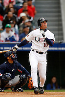 Chipper Jones of the USA during the World Baseball Championships at Angel Stadium in Anaheim,California on March 12, 2006. Photo by Larry Goren/Four Seam Images