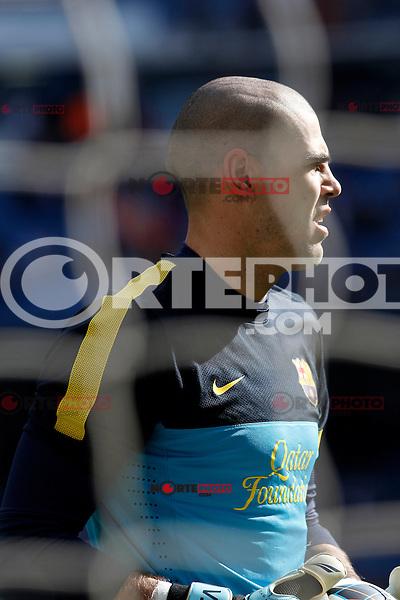 FC Barcelona's Victor Valdes during La Liga match.March 02,2013. (ALTERPHOTOS/Acero) /NortePhoto