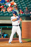 Scott Schebler (8) of the Chattanooga Lookouts at bat against the Montgomery Biscuits at AT&T Field on July 24, 2014 in Chattanooga, Tennessee.  The Biscuits defeated the Lookouts 6-4. (Brian Westerholt/Four Seam Images)
