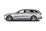 Car Driver side profile view of a 2017 Mercedes Benz E-Class Launch-Edition 5 Door wagon Side View