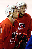 Nick Palmieri (US Blue - 19) - US players take part in practice on Friday morning, August 8, 2008, in the NHL Rink during the 2008 US National Junior Evaluation Camp and Summer Hockey Challenge in Lake Placid, New York.