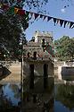 26/01/12. Gondar, Ethiopia. King Fasilides' bath, where Gondar congregates to celebrate Timket (Epiphany). Photo credit: Jane Hobson.