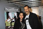 "Smash's Daphne Rubin-Vega poses with Sebastian La Cause - both were in Broadway's Rocky Horrow Show at a private screening of Sebastian La Cause's web series ""Hustling"" Season Two - 'cause everybody got a hustle -  was held on November 19, 2012 at TriBeca's Cinemas, New York City, New York. Days of our Lives ""Silvio"", One Live To Live and All My Children's Sebastian is the creator of Hustling along with being the writer, director and star (Photo by Sue Coflin/Max Photos)"