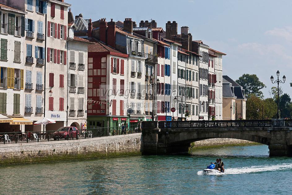 Europe/France/Aquitaine/64/Pyrénées-Atlantiques/Pays-Basque/Bayonne: Quai Galuperie, bords de la Nive