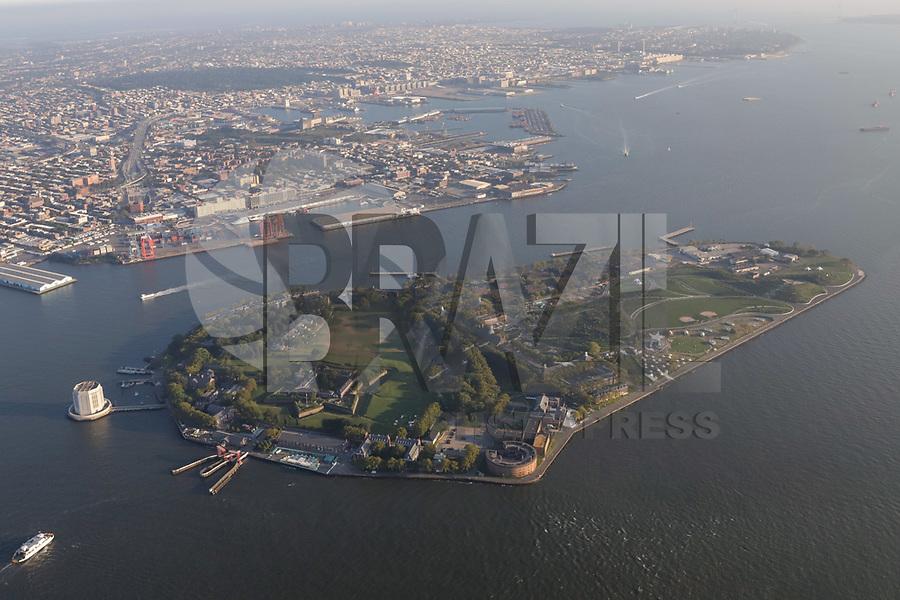 NOVA YORK, EUA, 17.09.2018 - CIDADE-NOVA YORK - Vista aerea Ilha do Governador ( Governors Island ) na cidade de Nova York nos Estados Unidos (Foto: Vanessa Carvalho/Brazil Photo Press)