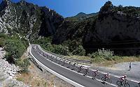 The peloton during the stage of La Vuelta 2012 between Andorra  and Barcelona.August 26,2012. (ALTERPHOTOS/Paola Otero) /NortePhoto.com<br /> <br /> **CREDITO*OBLIGATORIO** <br /> *No*Venta*A*Terceros*<br /> *No*Sale*So*third*<br /> *** No*Se*Permite*Hacer*Archivo**<br /> *No*Sale*So*third*