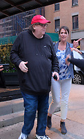 www.acepixs.com<br /> <br /> April 26 2017, New York City<br /> <br /> Filmmaker Michael Moore was out in Tribeca on April 26 2017 in New York City<br /> <br /> By Line: Curtis Means/ACE Pictures<br /> <br /> <br /> ACE Pictures Inc<br /> Tel: 6467670430<br /> Email: info@acepixs.com<br /> www.acepixs.com