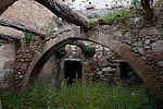 "Ruined buildin in the ancient Hellenic city of Polyrinia, Crete. The place name means ""many sheep"" and it was the most fortified city in ancient Crete."