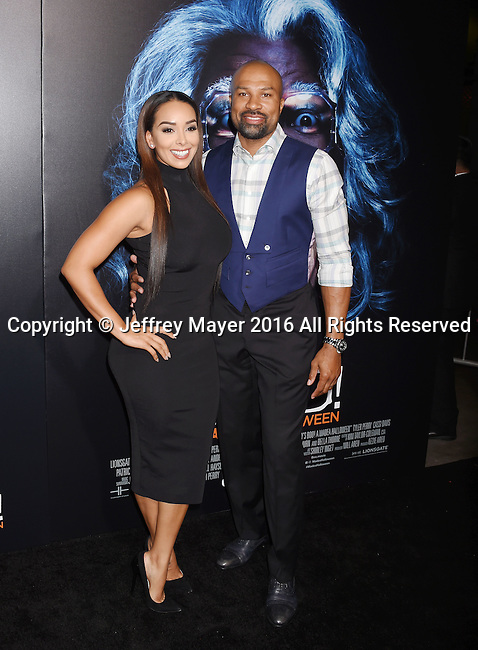 HOLLYWOOD, CA - OCTOBER 17: TV personality Gloria Govan (L) and former NBA coach/player Derek Fisher attend the premiere of Lionsgate's 'Boo! A Madea Halloween' at the ArcLight Cinerama Dome on October 17, 2016 in Hollywood, California.