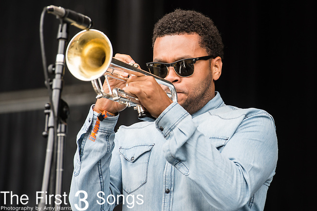 Julian Gosin of The Soul Rebels performs at the Outside Lands Music & Art Festival at Golden Gate Park in San Francisco, California.