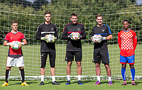 (l-r) Dominic Gape, Henry Newcombe, Matt Ingram, Scott Brown & Brendan May during the PEAK Elite Sportswear Photoshoot at Wycombe Training Ground, High Wycombe, England on 1 August 2017. Photo by PRiME Media Images.