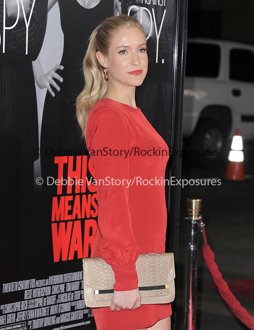 Kristin Cavallari at Twentieth Century Fox L.A Premiere of This Means War held at The Grauman's Chinese Theatre in Hollywood, California on February 08,2012                                                                               © 2012 Hollywood Press Agency