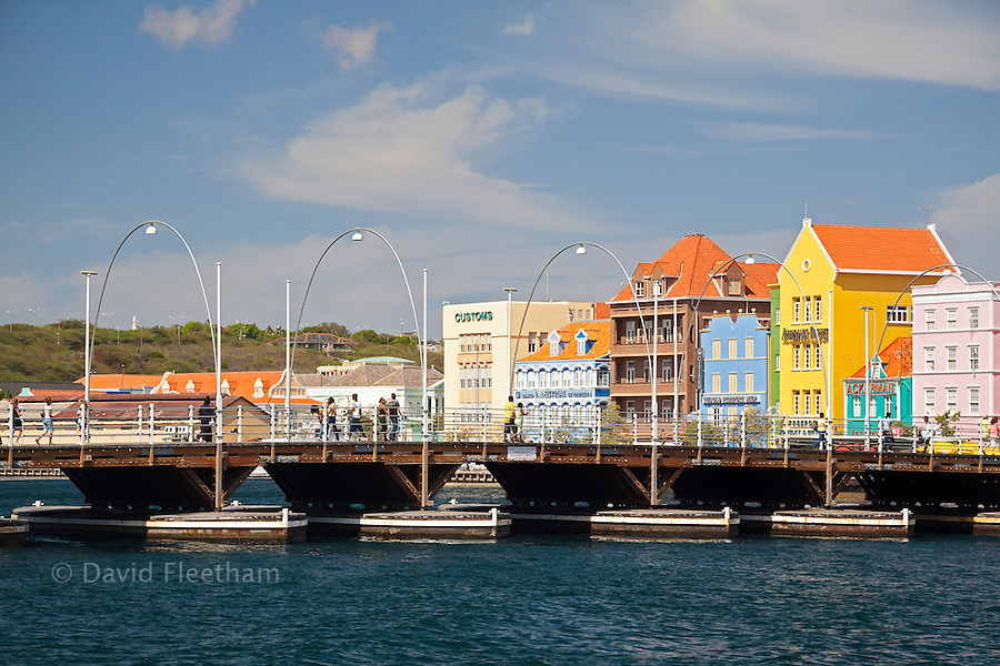 The scenic Punda side of Willemstad Harbor is a Curacao national iconic symbol.