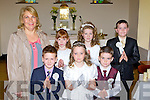 Pupils from Glencar NS who received their first holy communion in Glencar on Sunday front row l-r: Jack McGillicuddy, Shauna Kennedy-Murphy, Aaron Broderick. Back row: Eileen Magann, Michelle O'Connor, Orla Dunphy and Sean O'Connor....