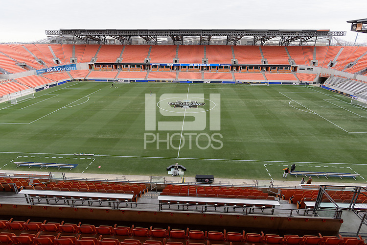 Houston, TX - Friday December 9, 2016: BBVA Compass Stadium prior to the NCAA College Cup game between the Denver Pioneers and the Wake Forest Demon Deacons at the NCAA Men's Soccer Semifinals in Houston Texas.