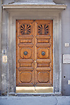 Europe, Italy, Tuscany, Florence, Traditional Door of B & B on Piazza del Duomo