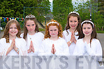 Ciara Prendergast, Louise Cronin, Fiona Toner, Emma Dineen and Jane McGillicuddy from the Mercy Killarney after receiving their First Holy Communion in St Mary's Cathedral on Saturday   Copyright Kerry's Eye 2008