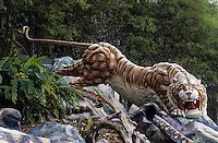 """Asie/Singapour/Singapour: Le """"Tiger Balm Garden"""" construit par les frères Haw devenus riches après l'invention du baume du tigre"""