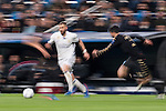 Karim Benzema of Real Madrid kicks the ball during the match Real Madrid vs Napoli, part of the 2016-17 UEFA Champions League Round of 16 at the Santiago Bernabeu Stadium on 15 February 2017 in Madrid, Spain. Photo by Diego Gonzalez Souto / Power Sport Images