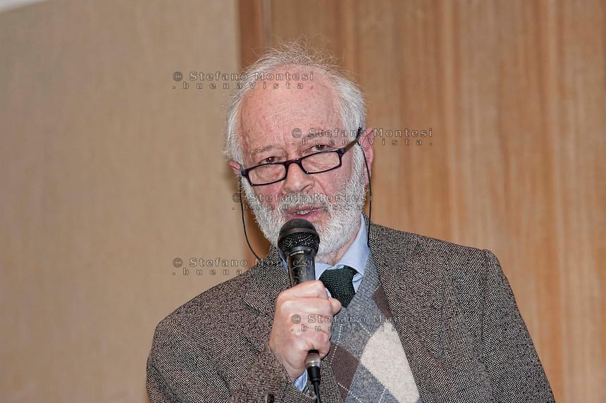 Roma 16 Gennaio 2013.Prof. Gabriel Levi. Psichiatra, direttore dell'istituto di Neuropsichiatria Infantile, Dipartimento di Scienze Neurologiche, Psichiatriche e Riabilitative dell'Età Evolutiva