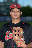 Great Lakes Loons pitcher Victor Arano (31) poses for a photo before a game against the West Michigan Whitecaps on June 4, 2014 at Fifth Third Ballpark in Comstock Park, Michigan.  West Michigan defeated Great Lakes 4-1.  (Mike Janes/Four Seam Images)