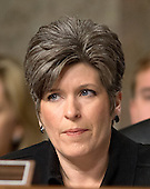 "United States Senator Joni Ernst (Republican of Iowa) listens to testimony before the United States Senate Committee on Armed Services concerning ""Global Challenges and the U.S. National Security Strategy"" in Washington, D.C. on Thursday, January 29, 2015.<br /> Credit: Ron Sachs / CNP"