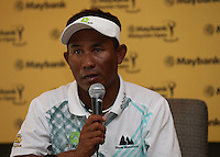Playing the PGA tour would be a difficult proposition for Thongchai Jaidee (THA) based on travelling and having to raise his game at the age of 45yrs ahead of the 2014 Maybank Malaysian Open at the Kuala Lumpur Golf & Country Club, Kuala Lumpur, Malaysia. Picture:  David Lloyd / www.golffile.ie