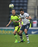 Preston North End's Greg Cunningham in action with Reading's Roy Beerens<br /> <br /> Photographer Mick Walker/CameraSport<br /> <br /> The EFL Sky Bet Championship - Preston North End v Reading - Saturday 11th March 2017 - Deepdale - Preston<br /> <br /> World Copyright &copy; 2017 CameraSport. All rights reserved. 43 Linden Ave. Countesthorpe. Leicester. England. LE8 5PG - Tel: +44 (0) 116 277 4147 - admin@camerasport.com - www.camerasport.com