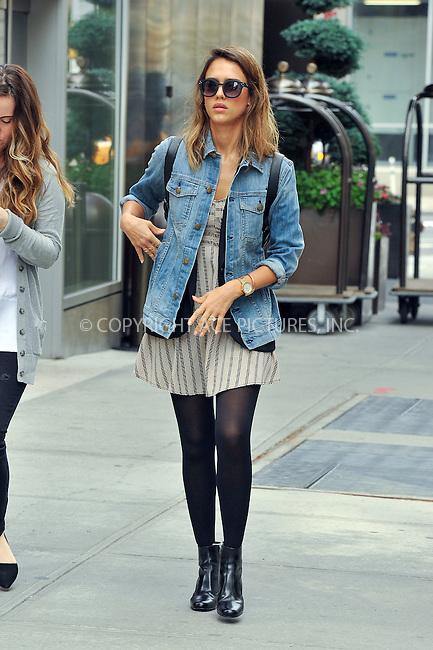 ACEPIXS.COM<br /> <br /> September 11 2014, New York City<br /> <br /> Actress Jessica Alba walks in Soho on September 11 2014 in New York City<br /> <br /> <br /> By Line: Curtis Means/ACE Pictures<br /> <br /> ACE Pictures, Inc.<br /> www.acepixs.com<br /> Email: info@acepixs.com<br /> Tel: 646 769 0430