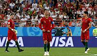 SARANSK - RUSIA, 25-06-2018: Cristiano RONALDO (C) jugador de Portugal reacciona  durante partido de la primera fase, Grupo B, entre RI de Irán y Portugal por la Copa Mundial de la FIFA Rusia 2018 jugado en el estadio Mordovia Arena en Saransk, Rusia. / Cristiano RONALDO (C) player of Portugal reacts during the match between IR Iran and Portugal of the first phase, Group B, for the FIFA World Cup Russia 2018 played at Mordovia Arena stadium in Saransk, Russia. Photo: VizzorImage / Julian Medina / Cont