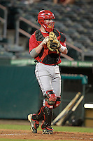 Catcher Zack Collins (17) of Cosby High School participates in the Team One Futures Game East at Roger Dean Stadium in Jupiter, Florida September 25, 2010..  Photo By Mike Janes/Four Seam Images