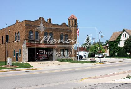 Village of Menomonee Falls Wisconsin Fire Station 1 built in 1929 on Appleton Avenue
