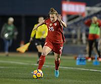 San Diego, Ca - Sunday, January 21, 2018: Savannah McCaskill during a USWNT 5-1 victory over Denmark at SDCCU Stadium.