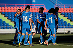 Getafe CF's players celebrate goal during Preseason match between Getafe CF and Crotone FC at Colisseum Alfonso Perez in Getafe, Spain. August 02, 2019. (ALTERPHOTOS/A. Perez Meca)