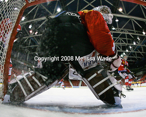 Bejamin Conz (Switzerland - 1) - Team Sweden defeated Team Switzerland 3-1 in the 2008 Four Nations Cup third place game in the 1980 Arena on Sunday, November 8, 2008 in Lake Placid, New York.