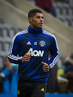 Marcus Rashford of Man Utd pre match during the Premier League match between Newcastle United and Manchester United at St. James's Park, Newcastle, England on 6 October 2019. Photo by J GILL / PRiME Media Images.