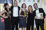 © Joel Goodman - 07973 332324 . 06/11/2014 .  Manchester , UK . Winner of the turnover from £10 - £25 million category , UKFast . The MEN Business Awards 2014 at the Midland Hotel . Photo credit : Joel Goodman