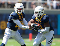 September 1, 2012: California's Zach Maynard hands off the ball to C.J. Anderson during a game against Nevada at Memorial Stadium, Berkeley, Ca   Nevada defeated California 31 - 24