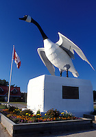 goose, Canada, Wawa, Ontario, Statue of Canadian wild goose at the Wawa Visitor Center in Ontario.