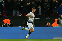 Jan Vertonghen of Tottenham Hotspur celebrates scoring the second goal during Tottenham Hotspur vs Borussia Dortmund, UEFA Champions League Football at Wembley Stadium on 13th February 2019