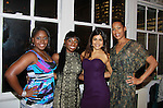 """Delaina Dixon """"Editor-In-CHief """"TV DivaGal"""" poses with One Life To Live's Shennell Edmonds, Shenaz Treasury and Kearran Giovanni at Let's Celebrate - The Diva Gals Style Lounge on October 5, 2011 at Select Strands, New York City, New York. DivaGalsDaily.com is the premier website inspiring DivaGals around the globe to celebrate evry living moment in a savvy, sophisticated and social way.  (Photo by Sue Coflin/Max Photos)"""