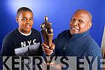 Fabien Lugandu who received a 2013 People of the Year Award pictured here with  his son Joe, age 13.
