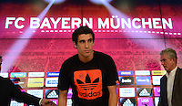 30.08.2012. Munich, Germany. Bundesliga 2012-2013 Bayern Munich present their newest signing Javi Martinez from Bilbao Spain at the Allianze Arena.